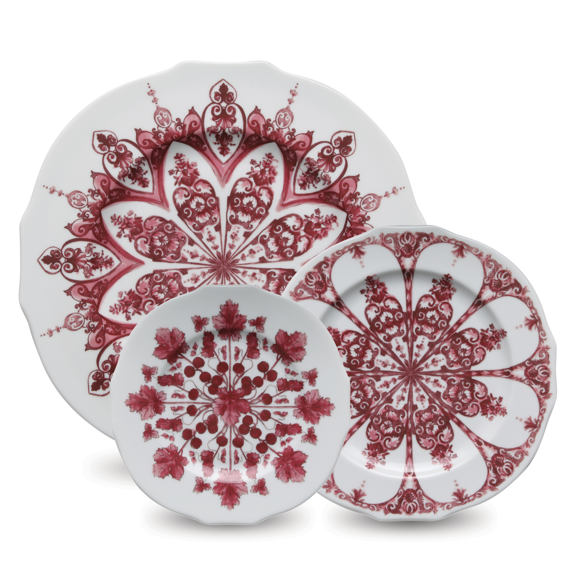 Richard Ginori Duchessa Dinnerware, Red