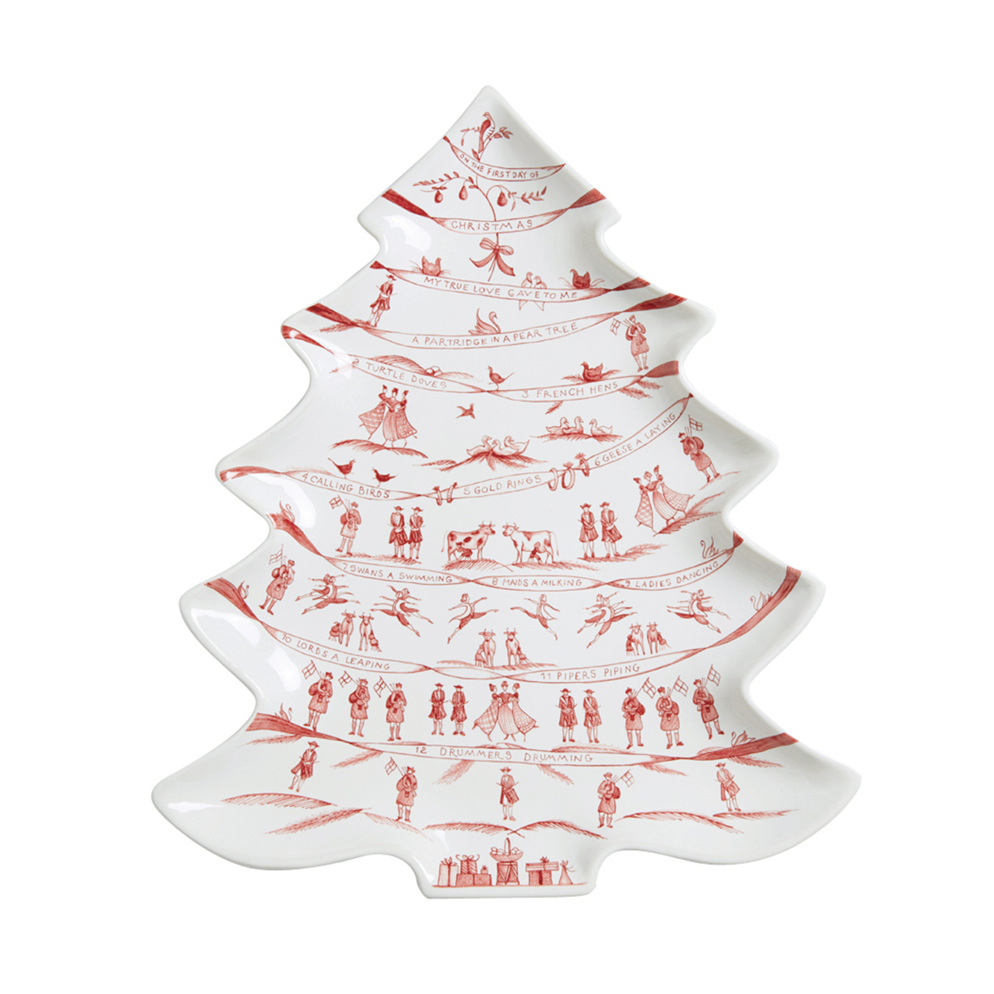 Juliska Country Estate \'Twelve Days of Christmas\' Platter, Ruby | Gump\'s