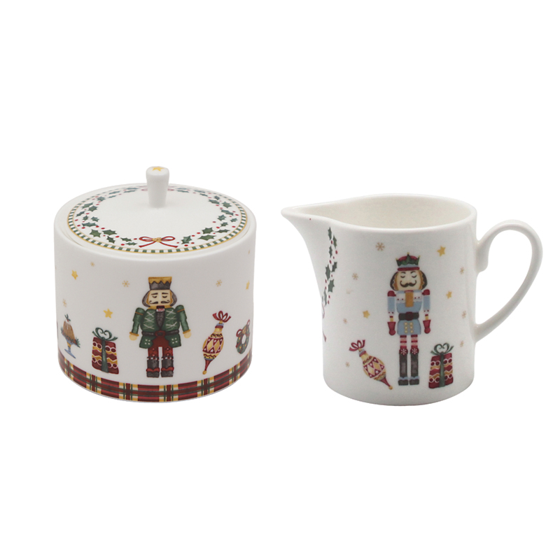 Prouna Nutcracker Sugar & Creamer Set