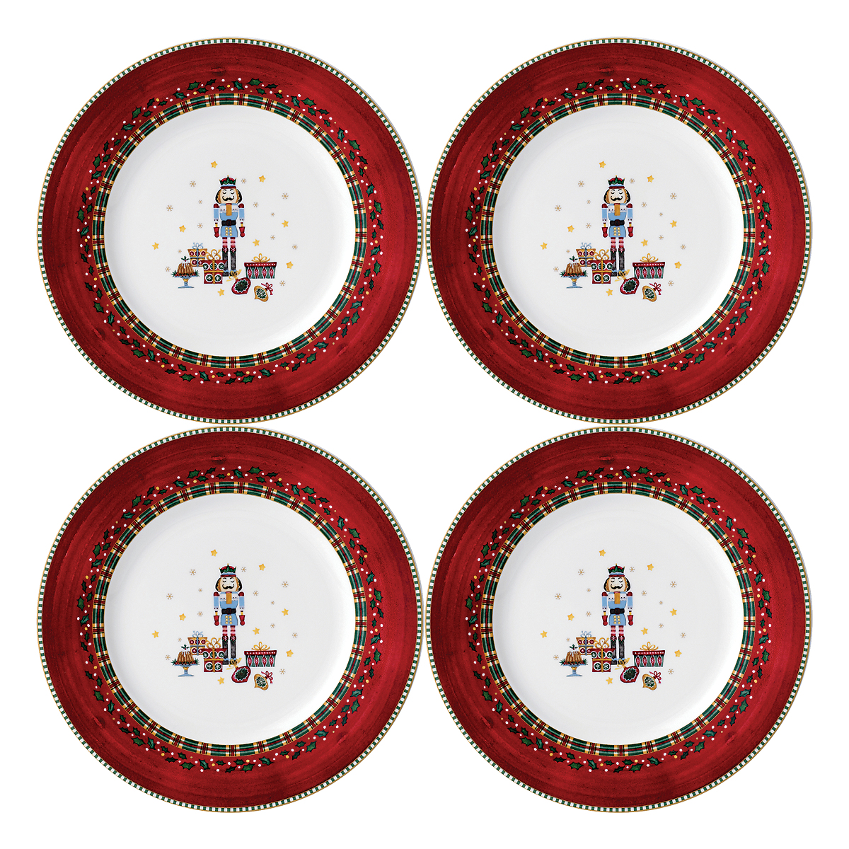 Prouna nutcracker canap plates set of 4 gump 39 s for What are canape plates