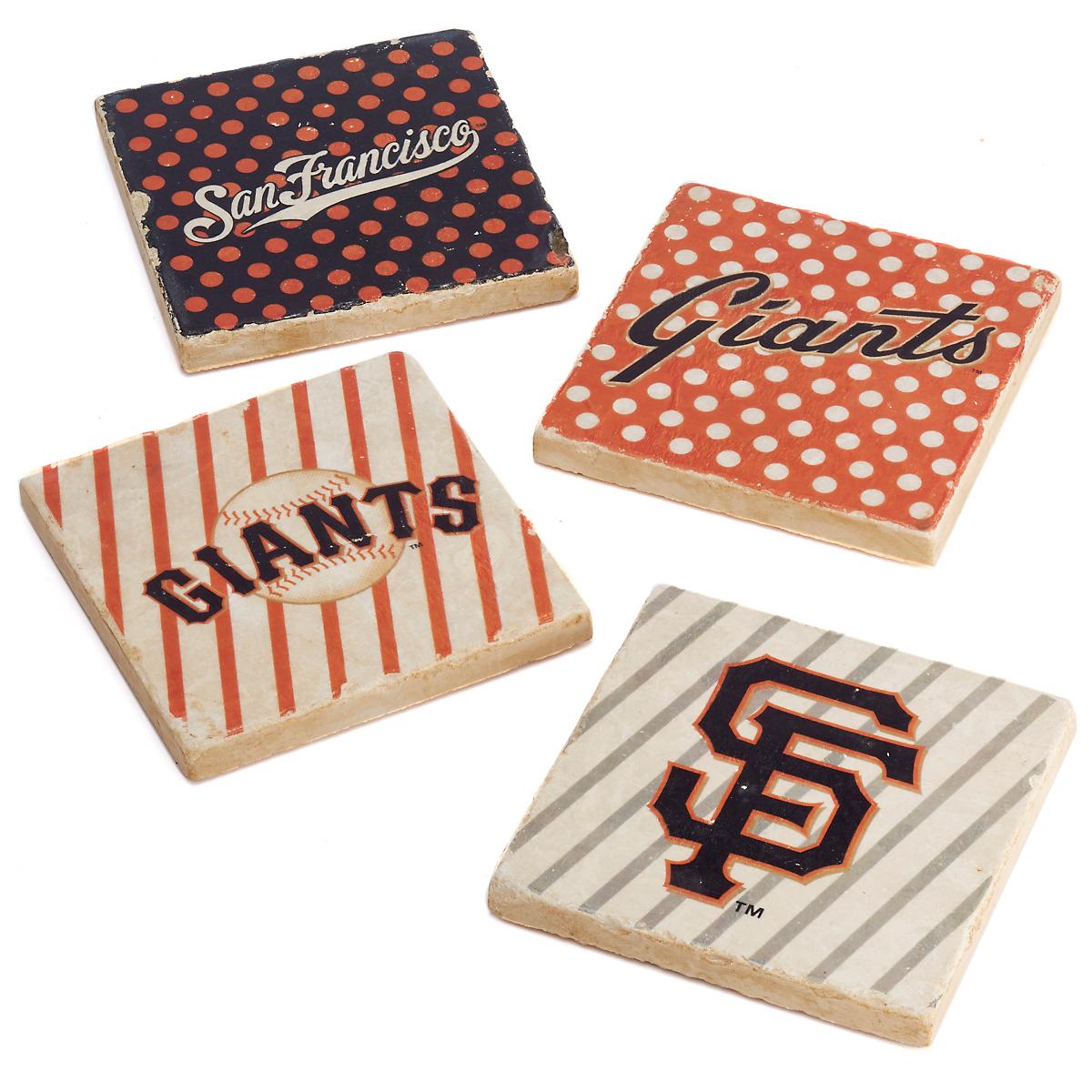 Nostalgic San Francisco Giants Coasters, Set of 4