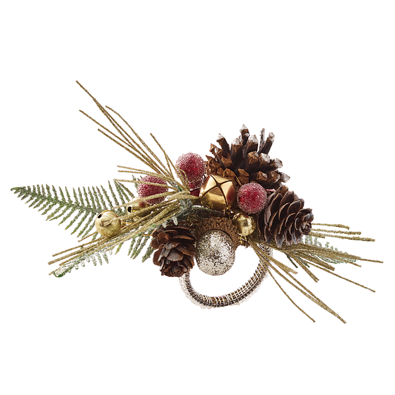 Kim Seybert Pine Branch Napkin Rings, Set of 4