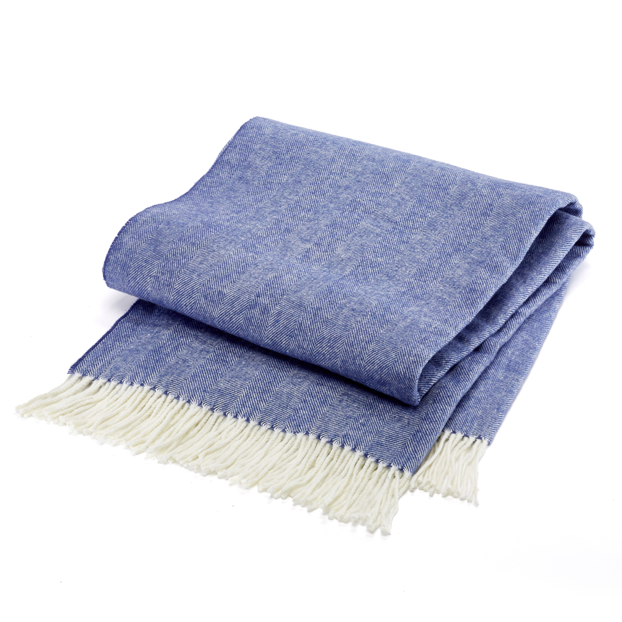 Herringbone Throw, Indigo
