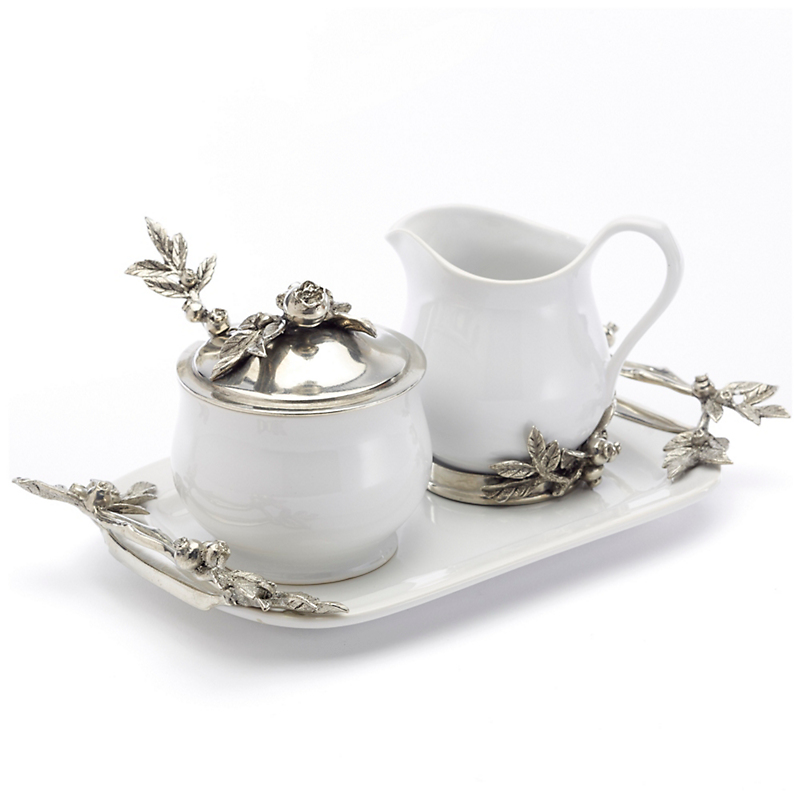 Vagabond House 3pc Blueberry Sugar & Creamer Set