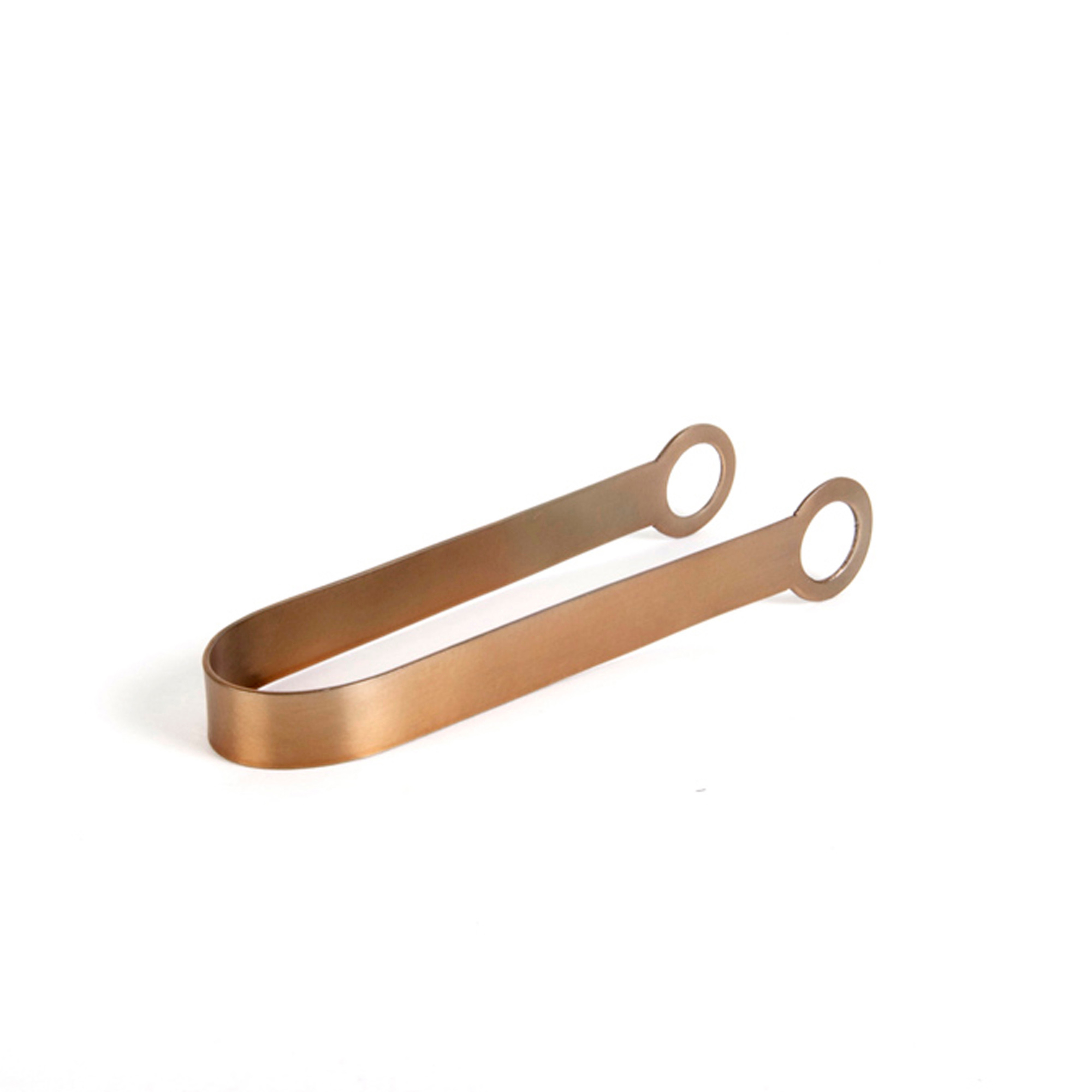 Rondo Ice Tongs, Soft Copper