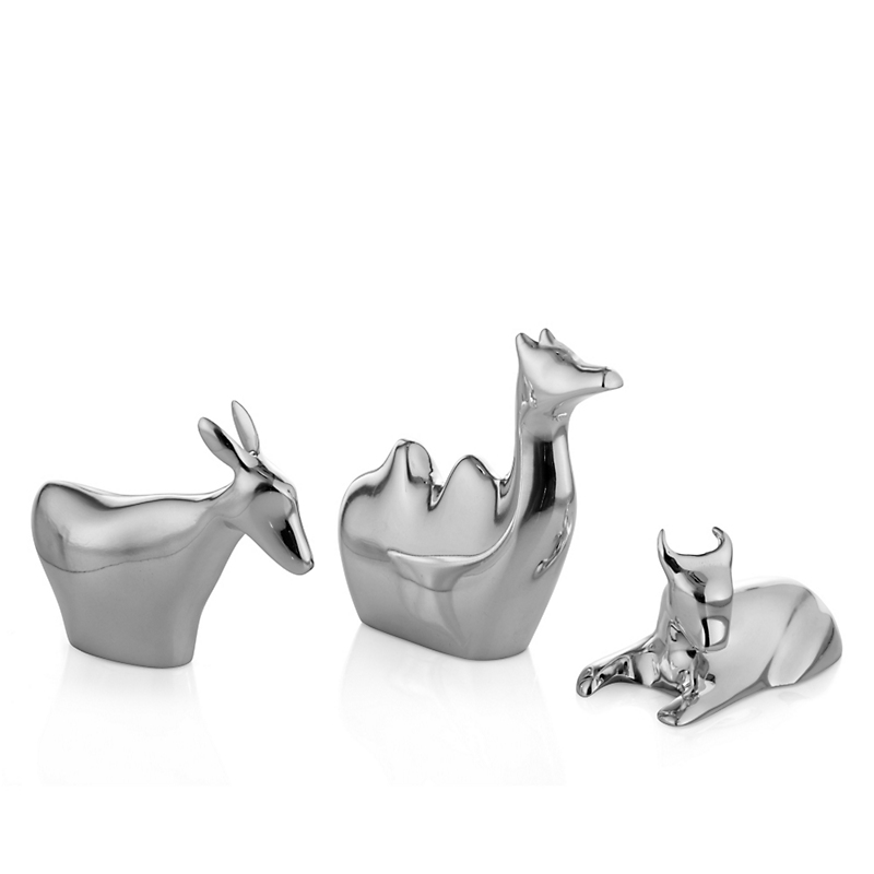 Nambé Mini Nativity Animals, Set of 3