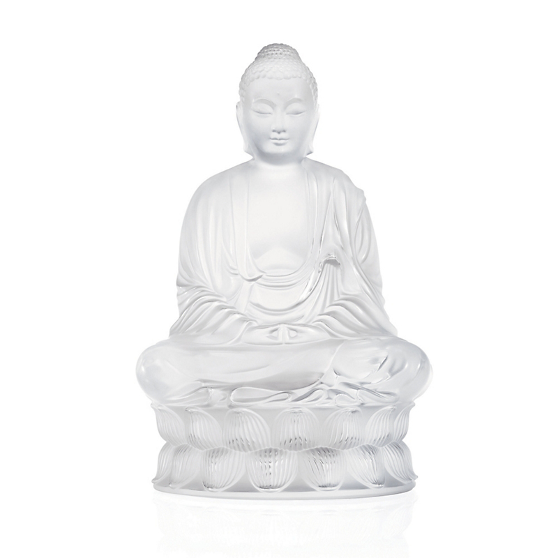 Lalique Buddha, Small Clear