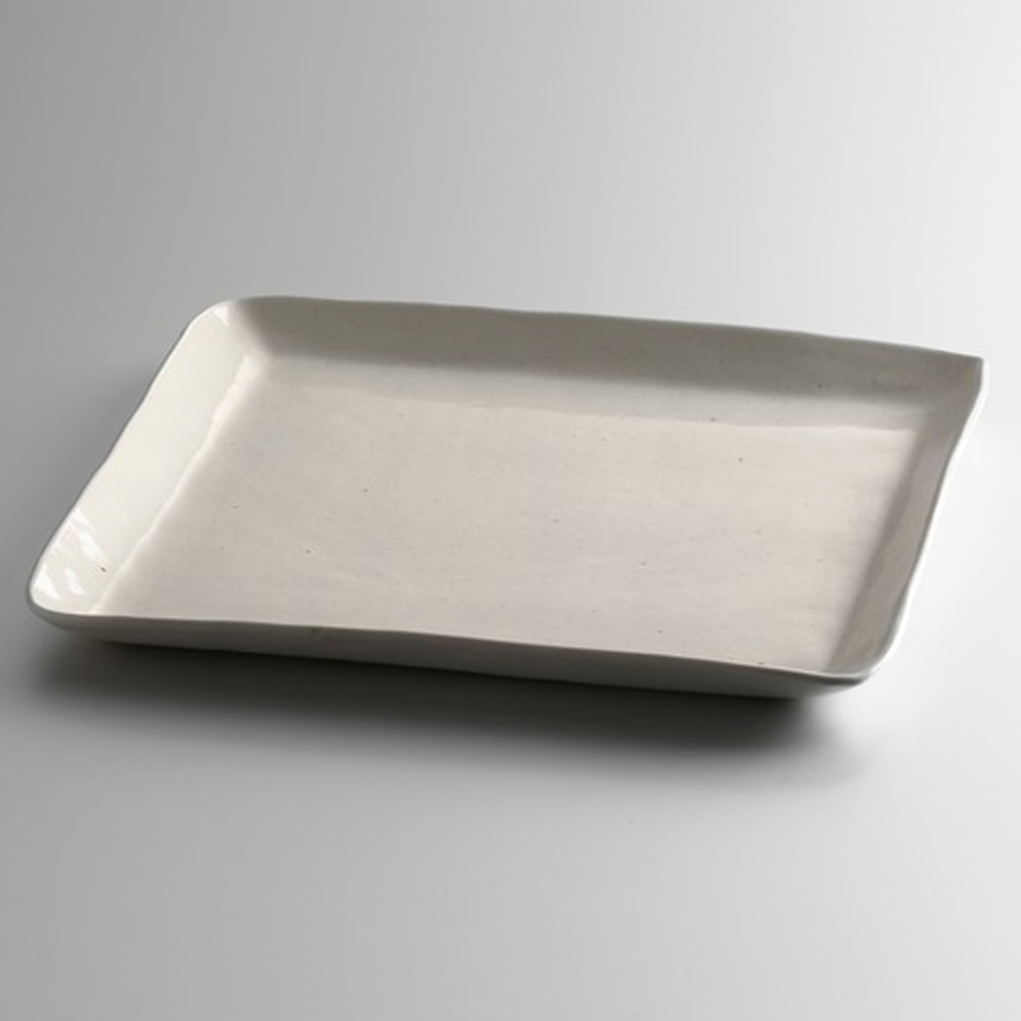 Simon Pearce Woodbury Square Dinner Plate, Birch
