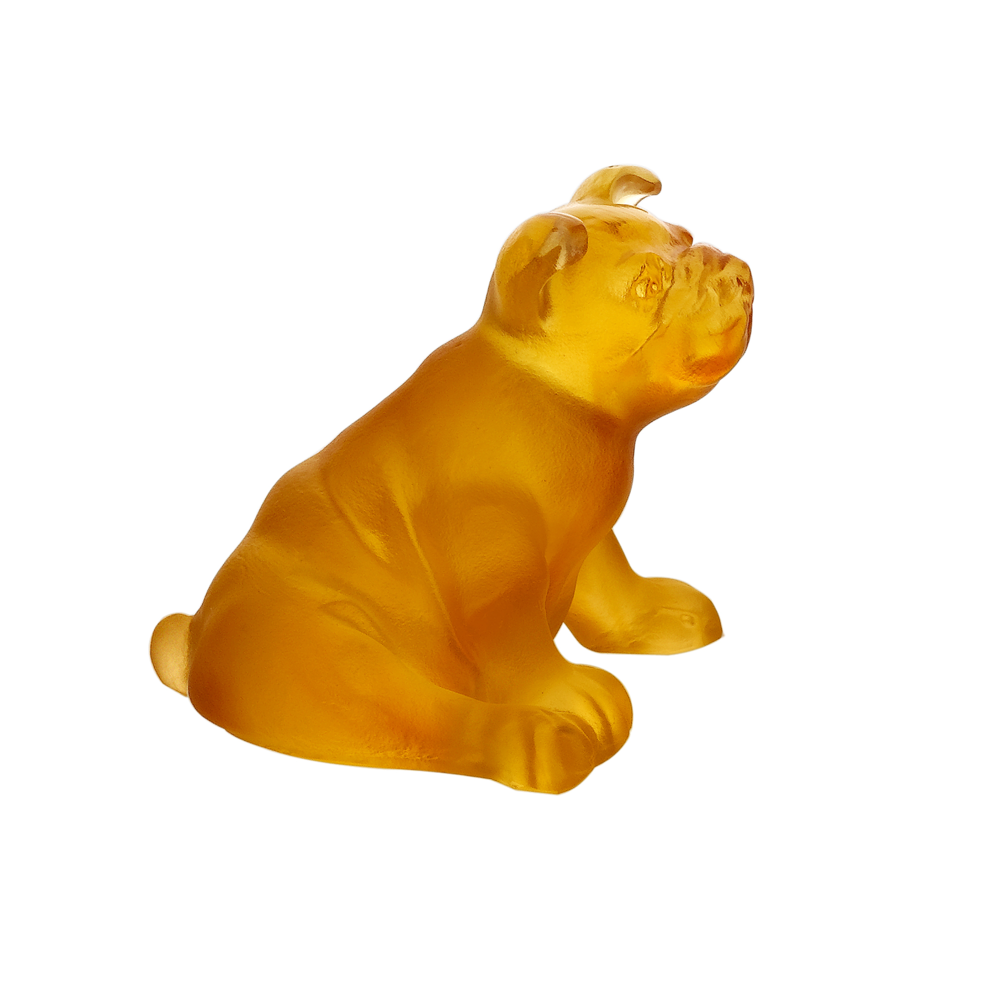 Daum Crystal Mini Puppy, Amber