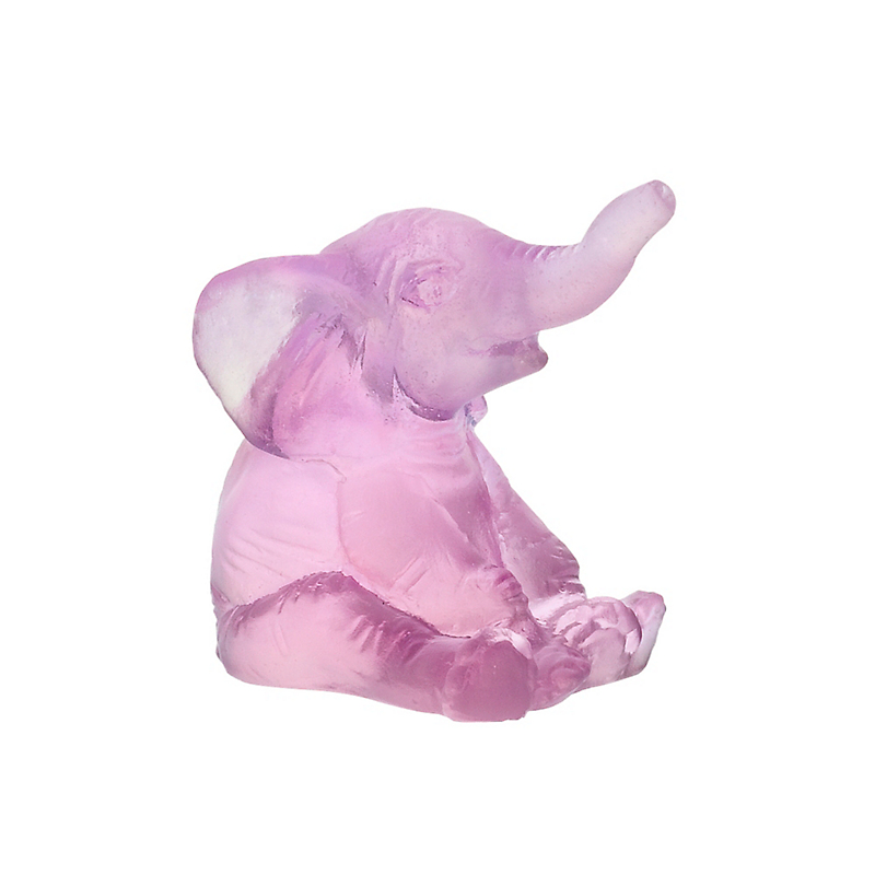 Daum Crystal Mini Elephant ,Pink