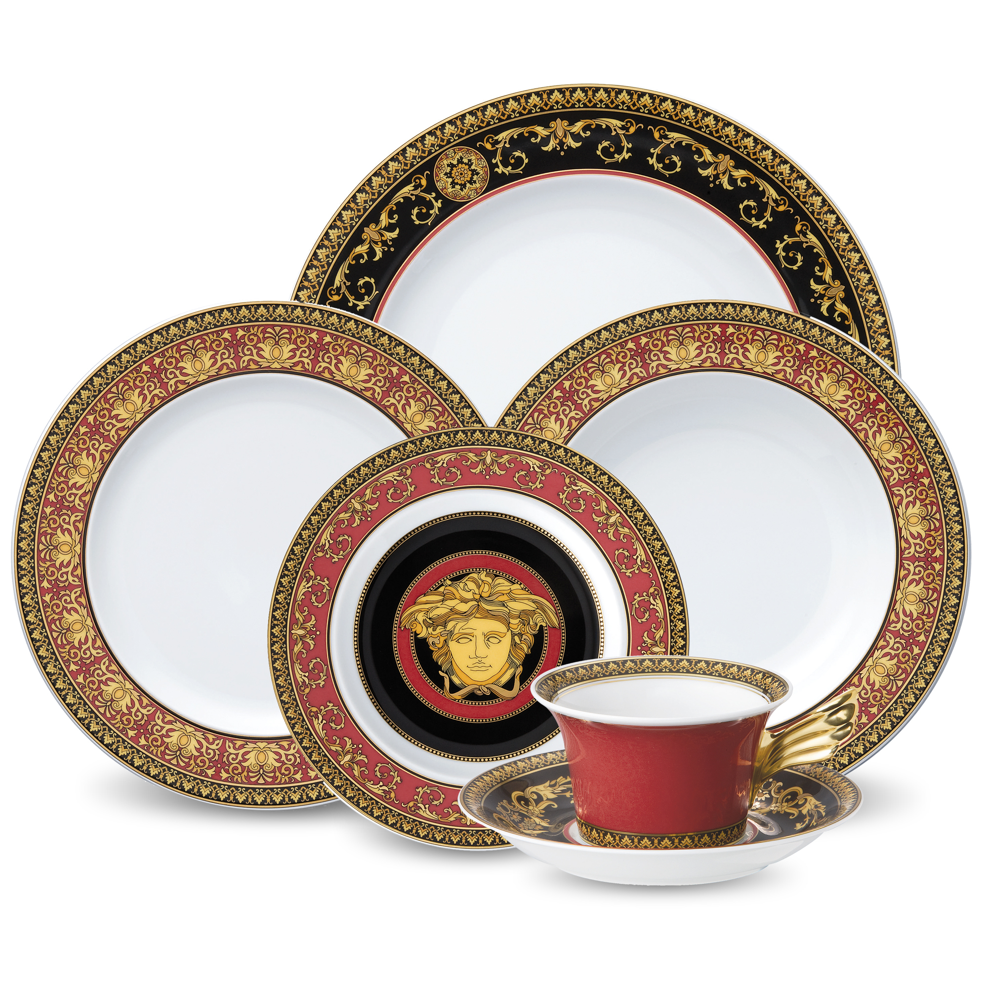 Versace Medusa Dinnerware, Red