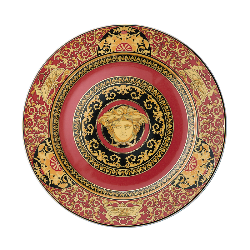 Versace Medusa Service Plate, Red