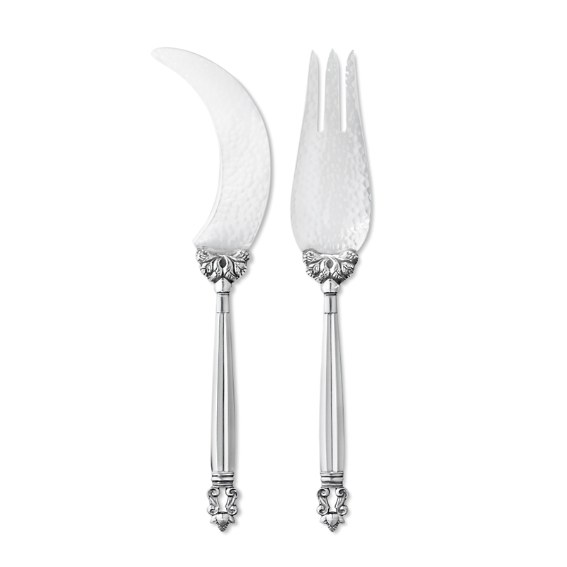 Georg Jensen Acorn 2-Piece Melon Serving Set
