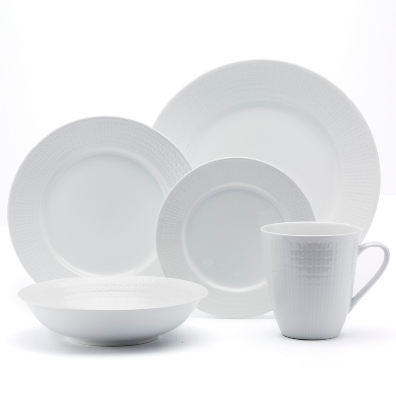 Rorstrand Swedish Grace Dinnerware, Snow