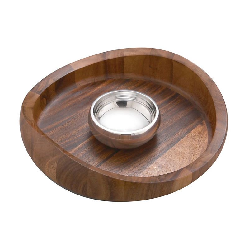 Nambé Butterfly Chip & Dip Bowl
