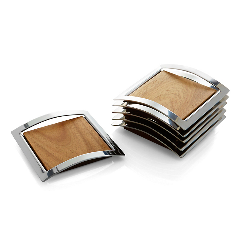 Nambé Mikko Coasters, Set Of 6