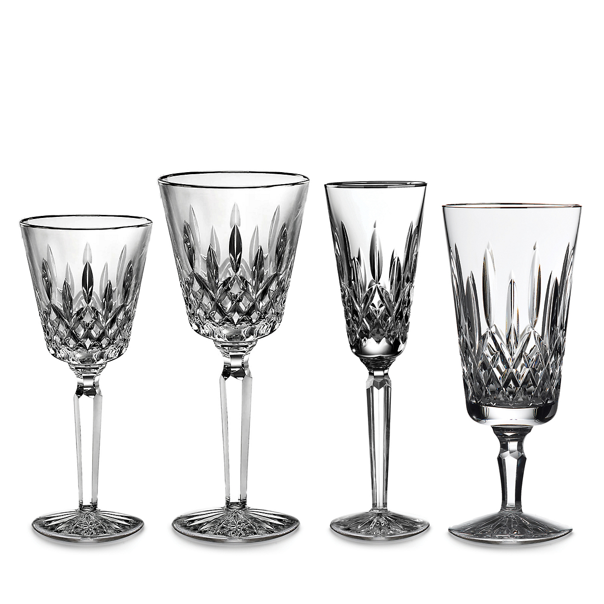 Waterford Lismore Tall Stemware, Platinum