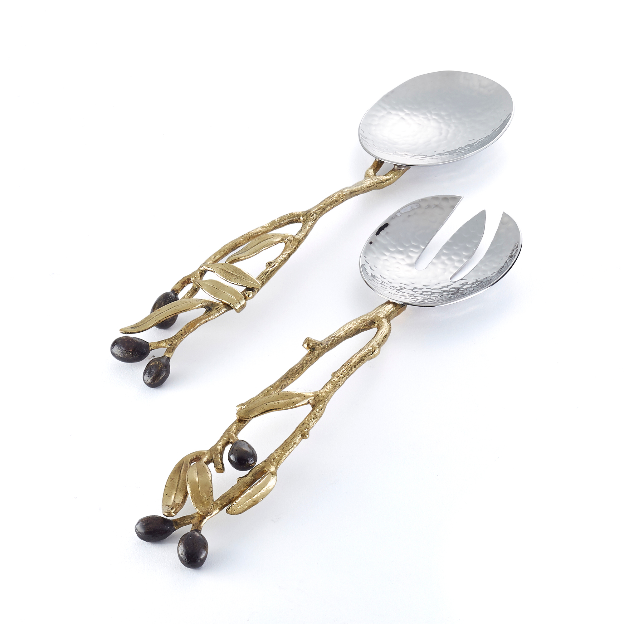 Michael Aram Olive Branch Gold Serveware, Set of 2