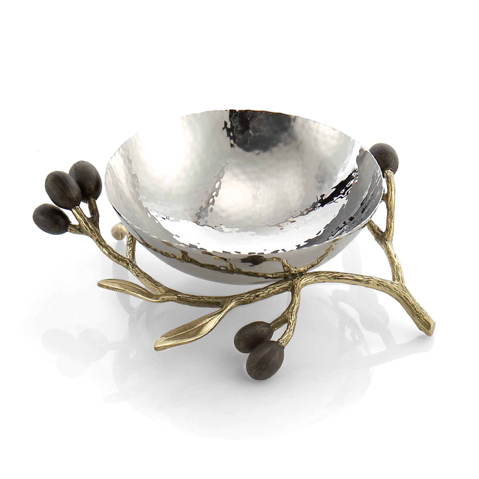 Michael Aram Olive Branch Gold Nut Dish