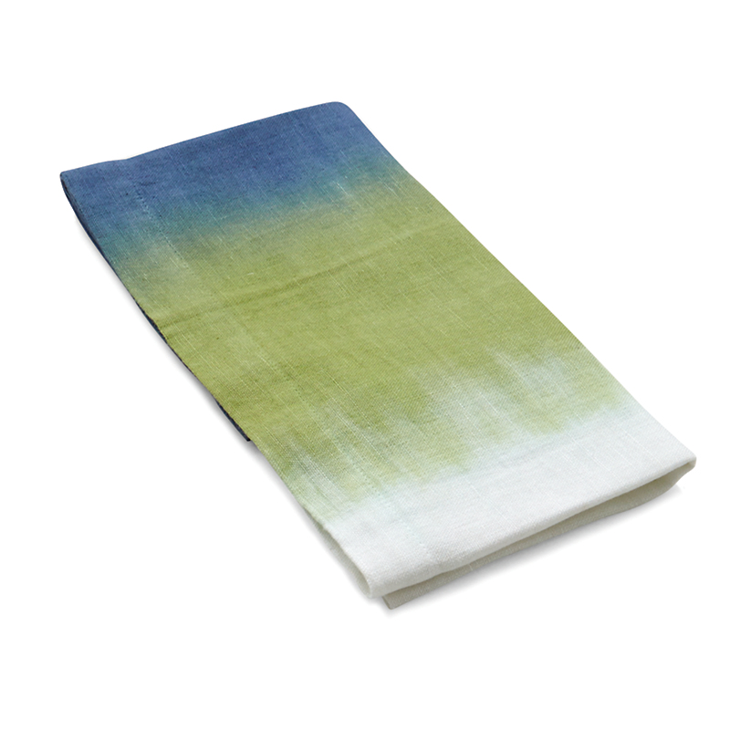 Michael Aram Blue/Green Dip-Dye Dinner Napkin