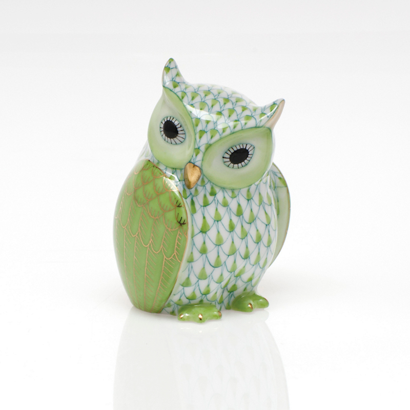 Herend Mother Owl, Keylime