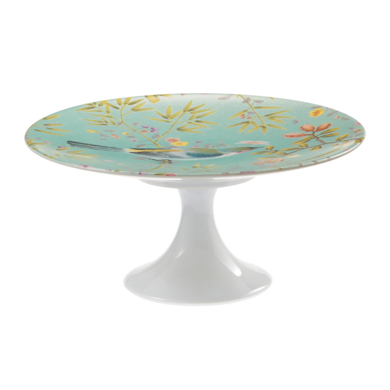 Raynaud Paradis Petit Four Stand, Small Turquoise