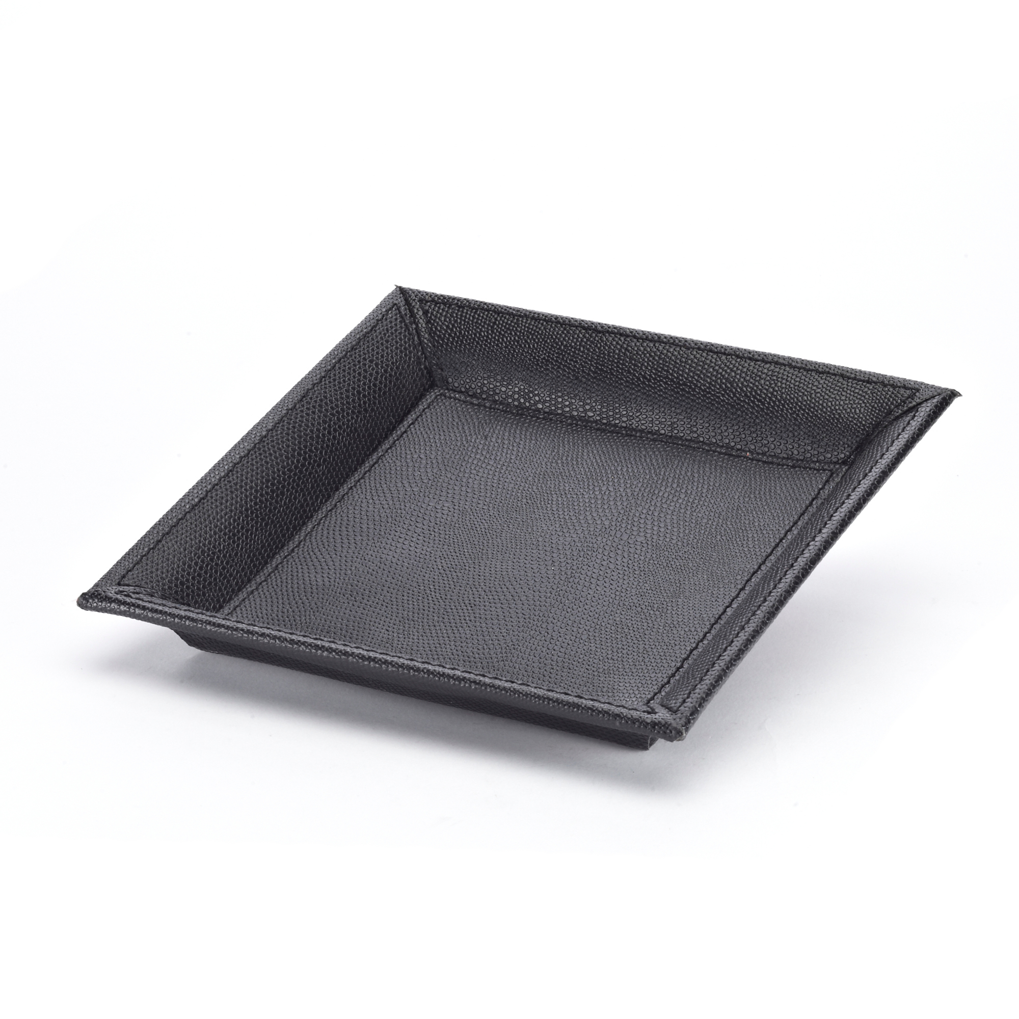Faux Leather Drink Tray, Black