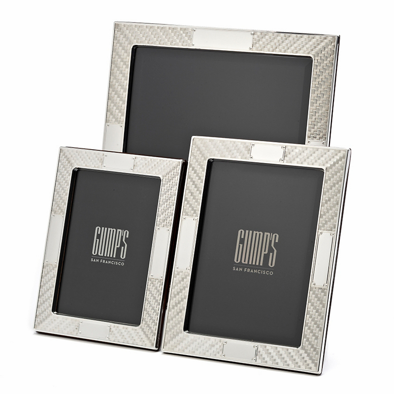 Sterling Silver Wicker Frames