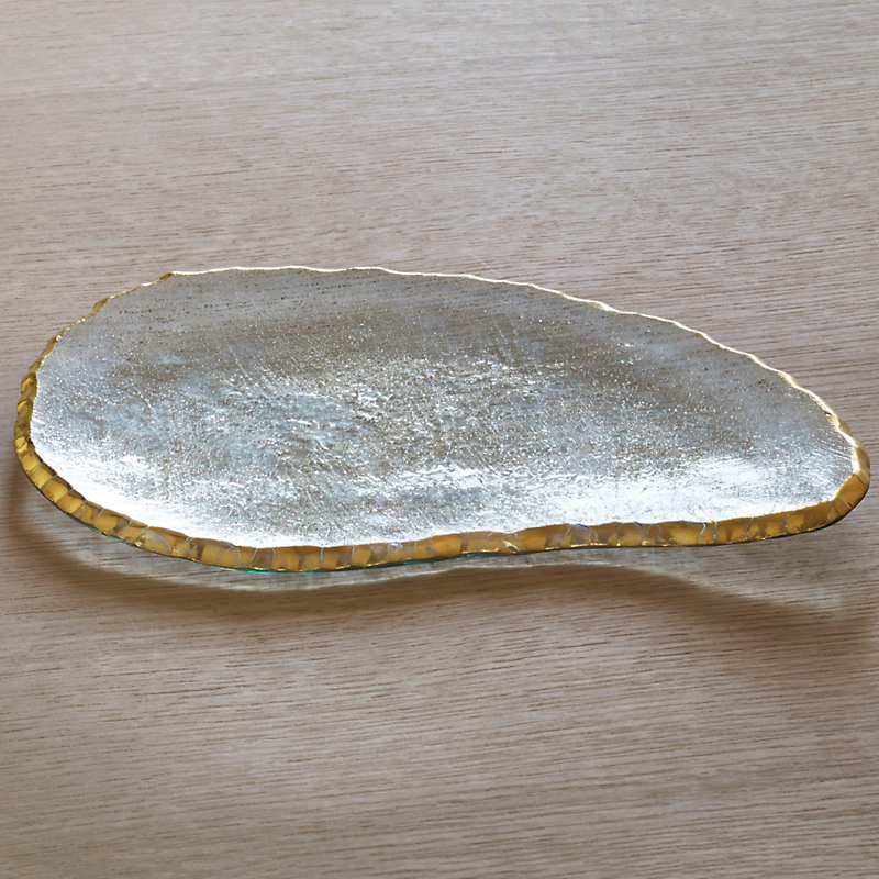 Annieglass Edgey Cheese Slab, Gold