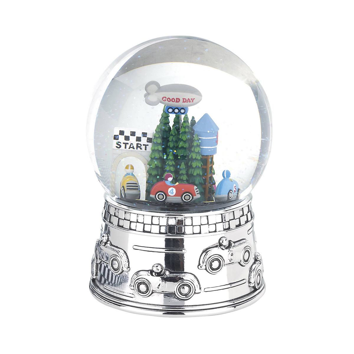 Reed & Barton Race Car Waterglobe