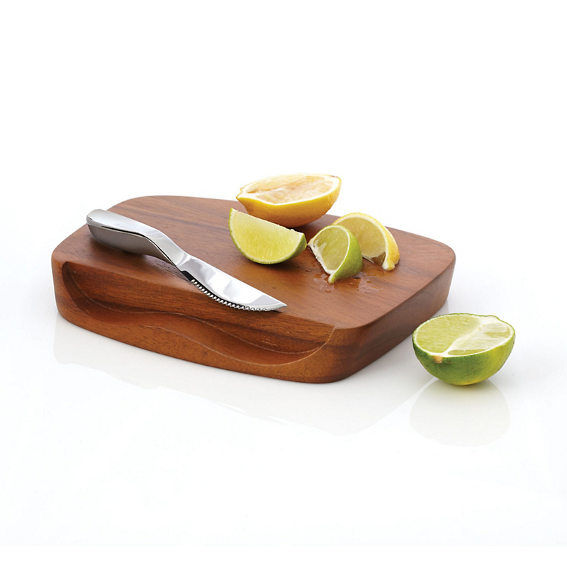 Nambe Blend Bar Board With Knife