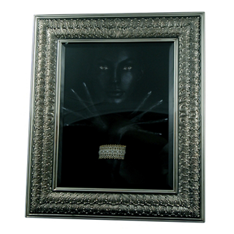 Buccellati Double Linenfold Sterling Silver Frame, 4 x 6