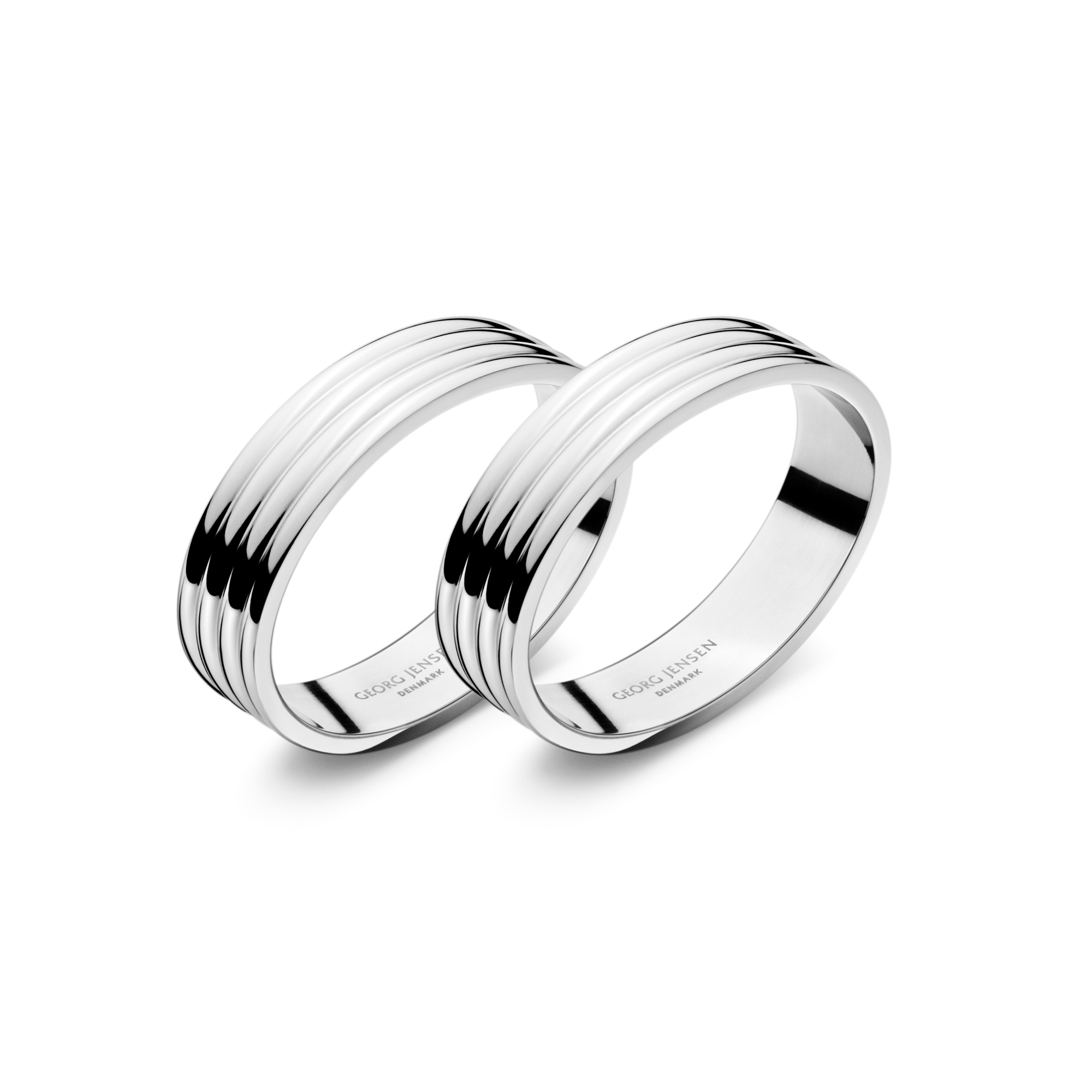 Georg Jensen Bernadotte Stainless Napkin Rings, Set of 2