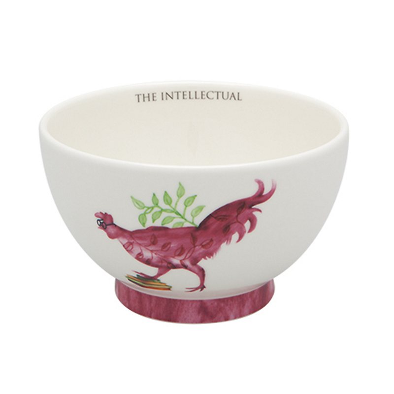 Casa Alegre Rooster Cereal Bowl, The Intellectual