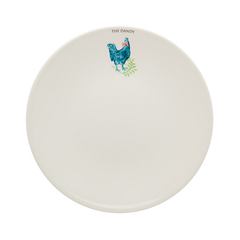 Casa Alegre Rooster Dinner Plate, The Dandy