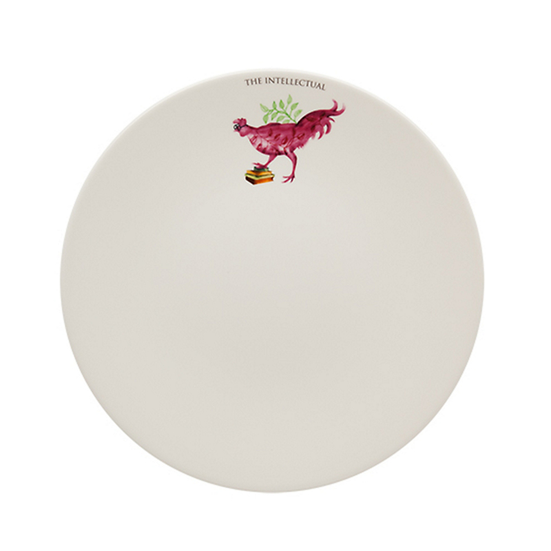 Casa Alegre Rooster Dinner Plate, The Intellectual