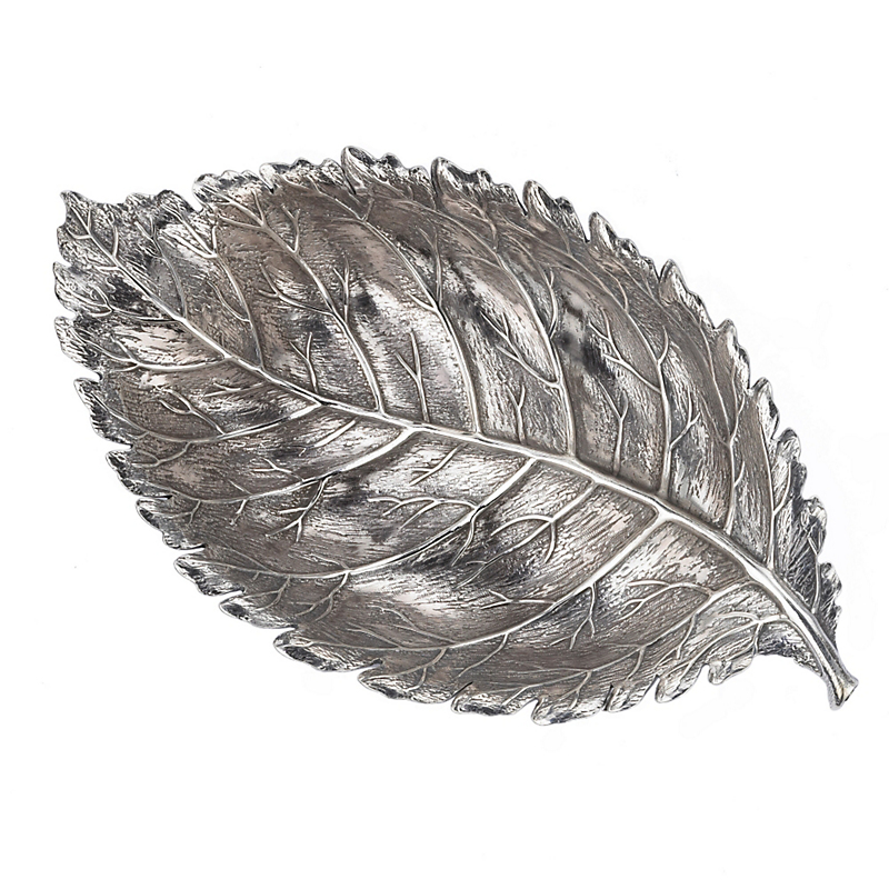 Buccellati Sterling Silver Rose Leaf Dish, Small