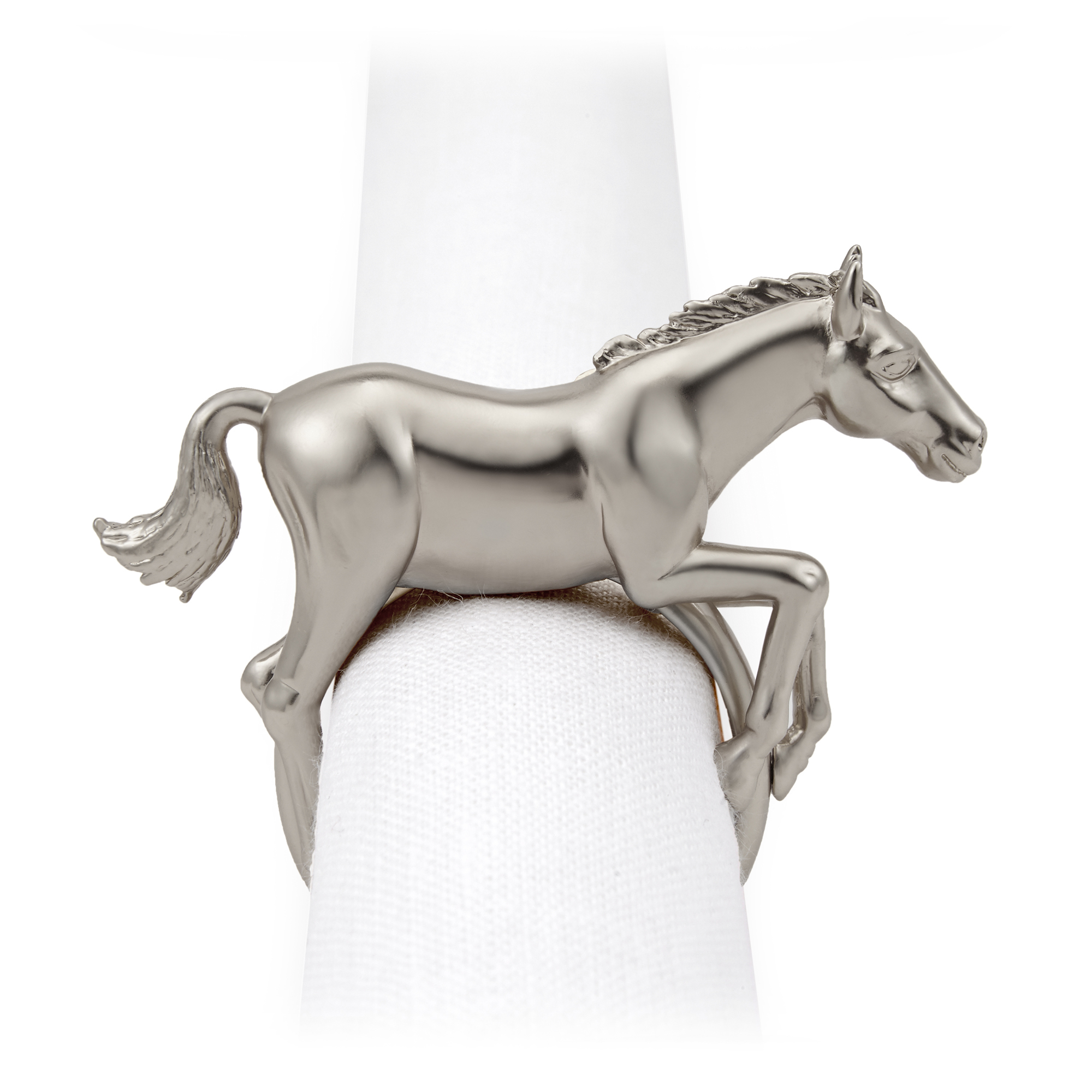 L'Objet Jewel Horse Napkin Rings, Set of 4