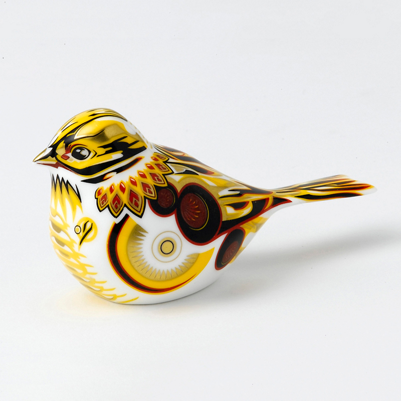 Royal Crown Derby Yellow Hammer Paperweight