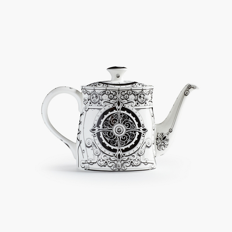 Royal Crown Derby Steampunk Teapot, White/Black