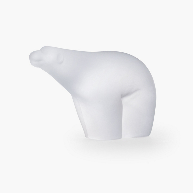 Simon Pearce Frosted Polar Bear, Medium