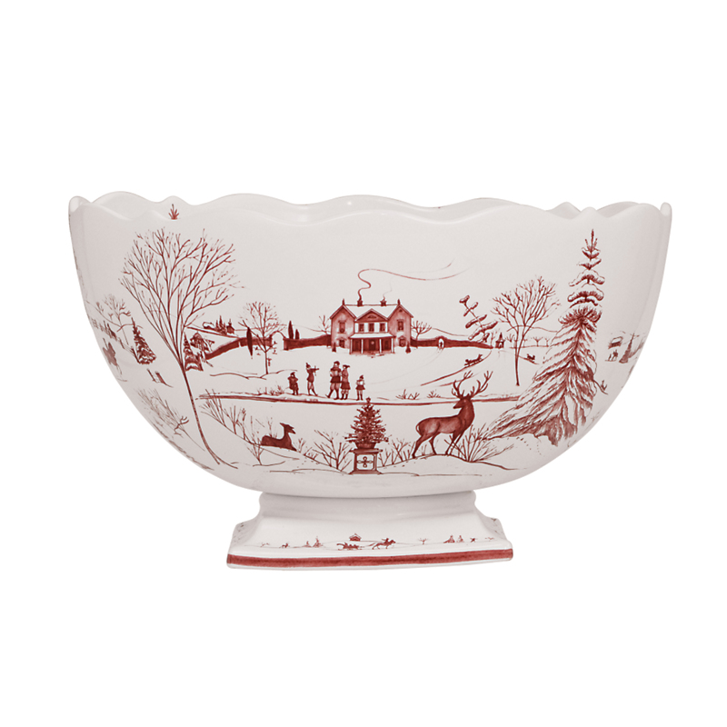 Juliska Country Estate Centerpiece Bowl, Ruby