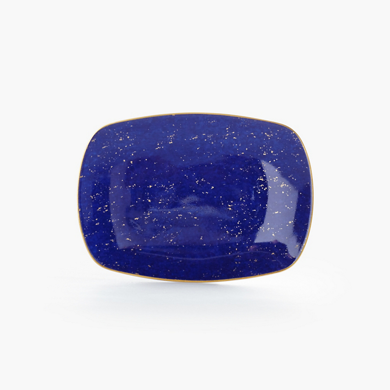 L'Objet Small Rectangular Lapis Tray
