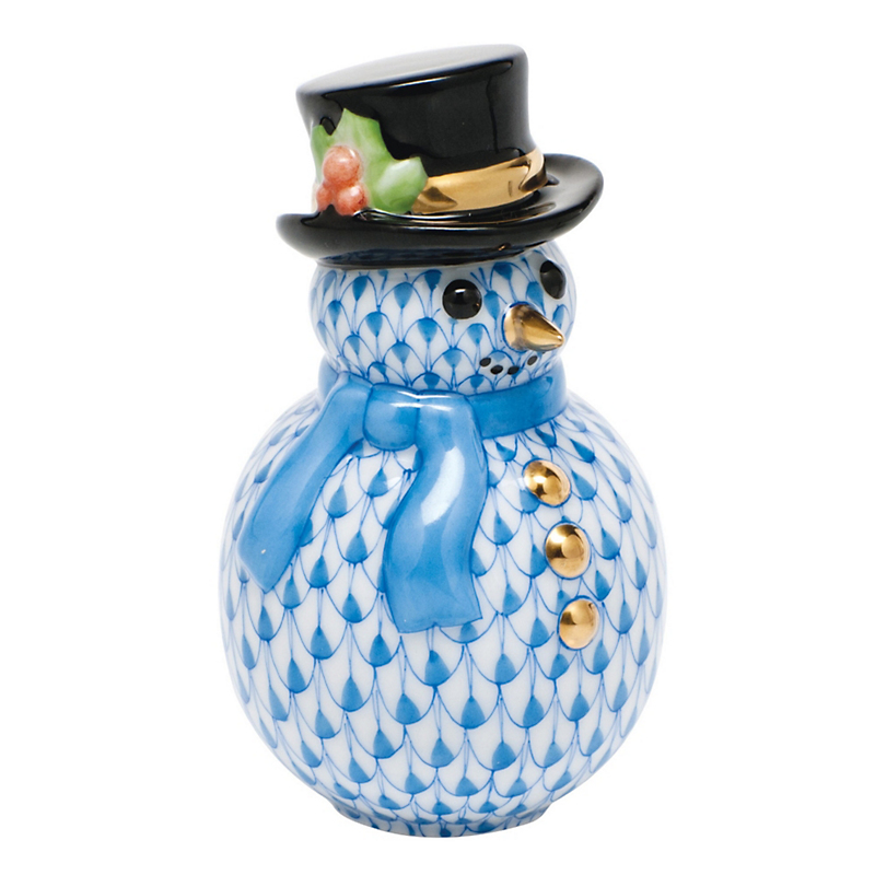 Herend Snowman, Blue