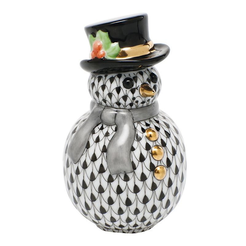 Herend Snowman, Black