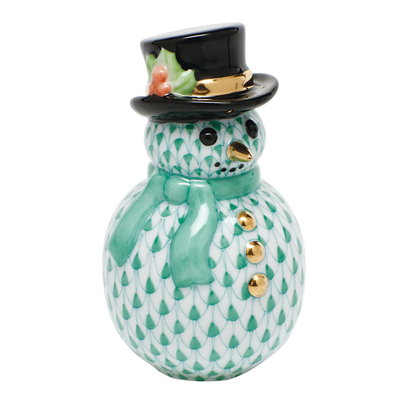 Herend Snowman, Green