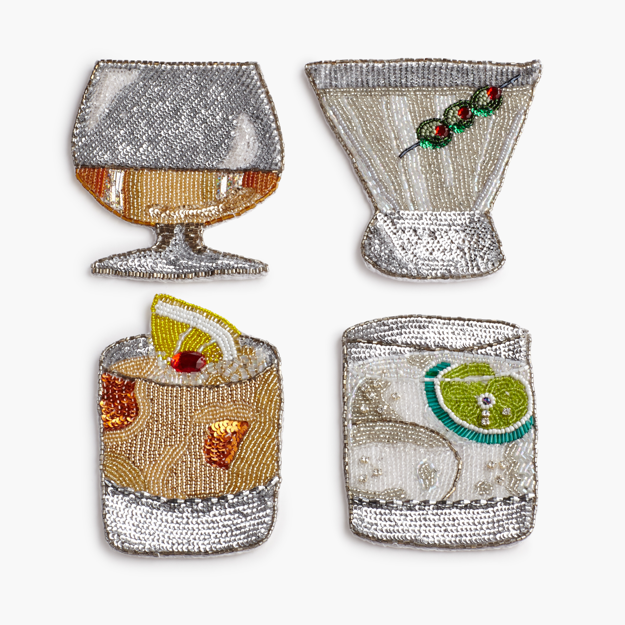 Kim Seybert Beaded Coasters, Set of 4