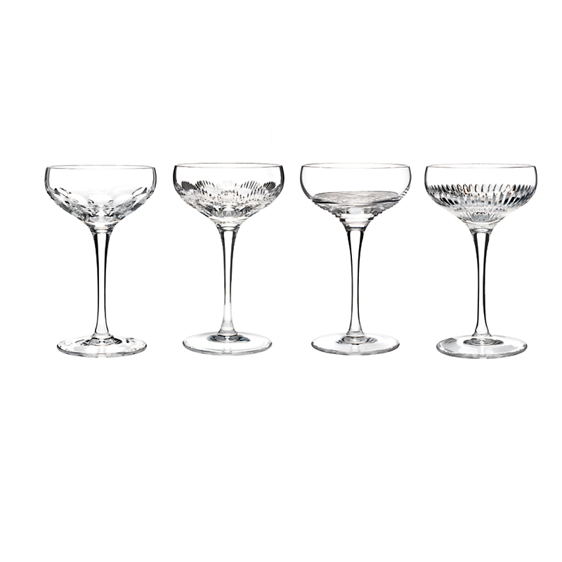 Waterford Mixology Champagne Coupes Clear, Set of 4