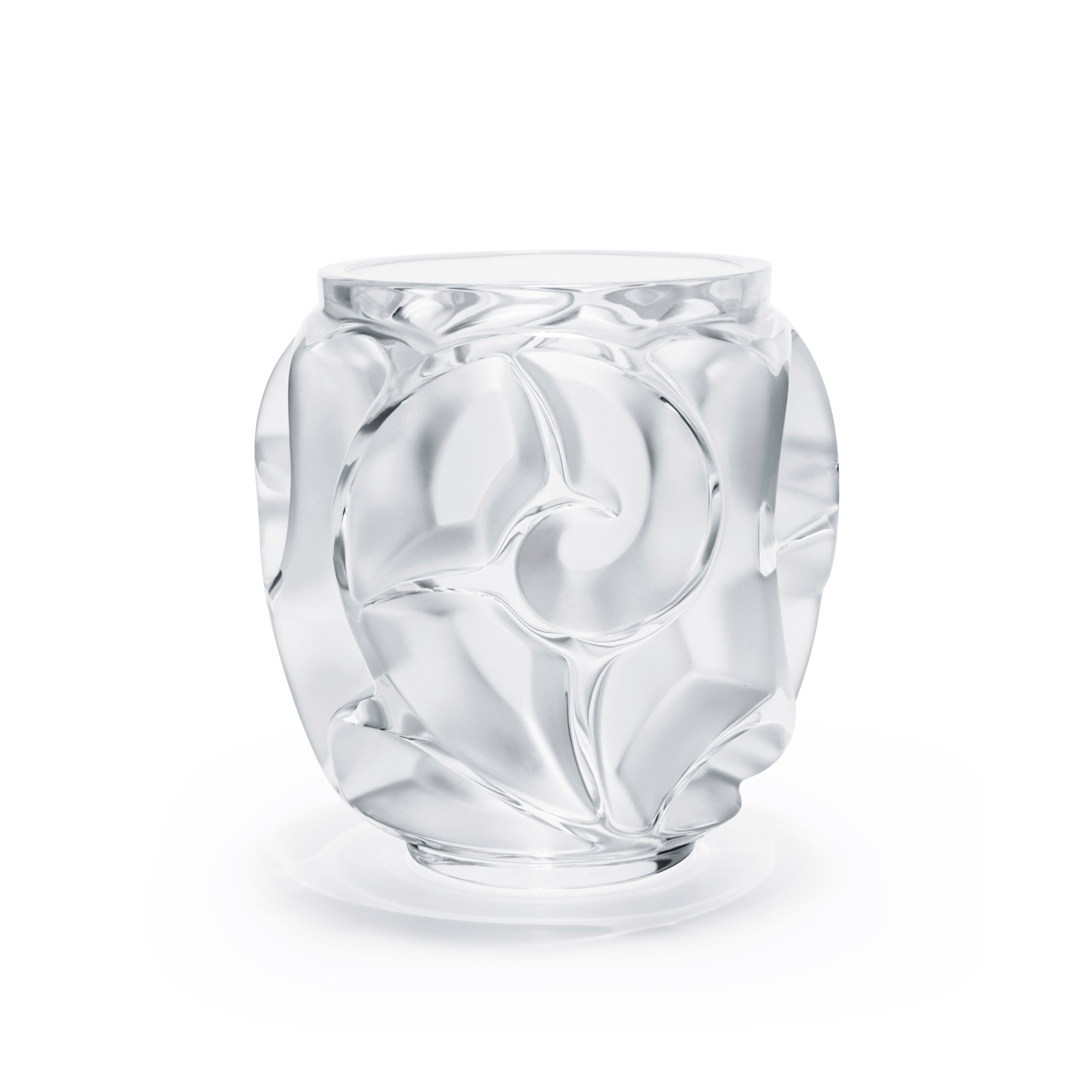 Lalique Tourbillons Vase, Small Clear