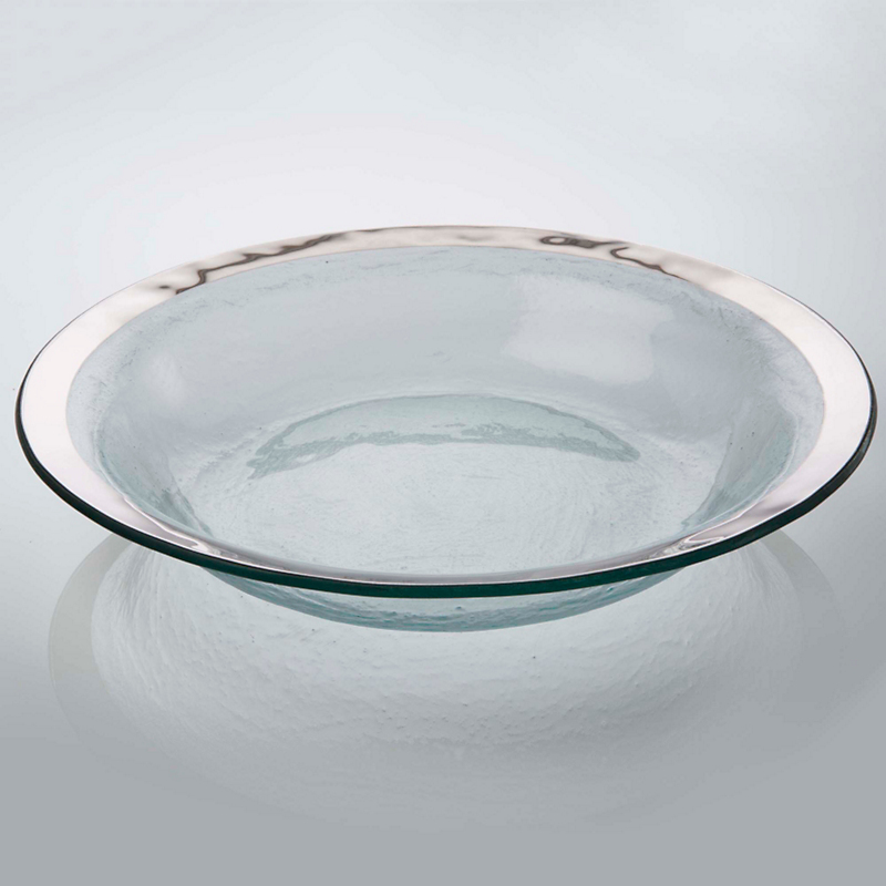 Annieglass Roman Antique Salad Bowl, Platinum